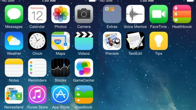 """Sind diese auf """"Weibo"""" veröffentlichten Screenshots echt, kommen auch TextEdit und Vorschau aufs iPhone."""