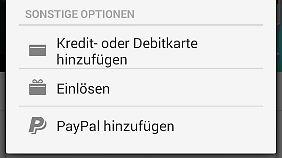 Nach einem Update ist es in der Play-Store-App möglich, PayPal als Zahlungsmittel einzurichten.
