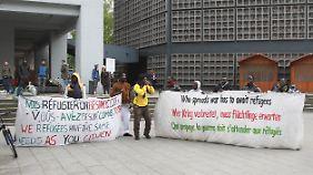 Die Flüchtlinge wollen dauerhaft in Deutschland bleiben.