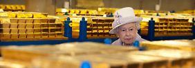 Die Queen mit den britischen Goldvorräten, nicht ihren eigenen.