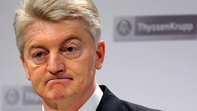 Für ThyssenKrupp-Chef Hiesinger sind die neuen Ermittlungen schwer zu verdauen.