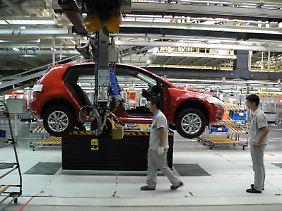 Fertigung im VW-Werk in Foshan.