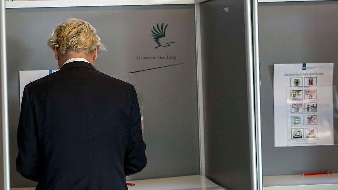Rechtspoulist Geert Wilders verliert an Boden.