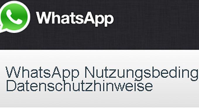 Die WhatsApp-AGB verstoßen möglicherweise gegen deutsches Recht.