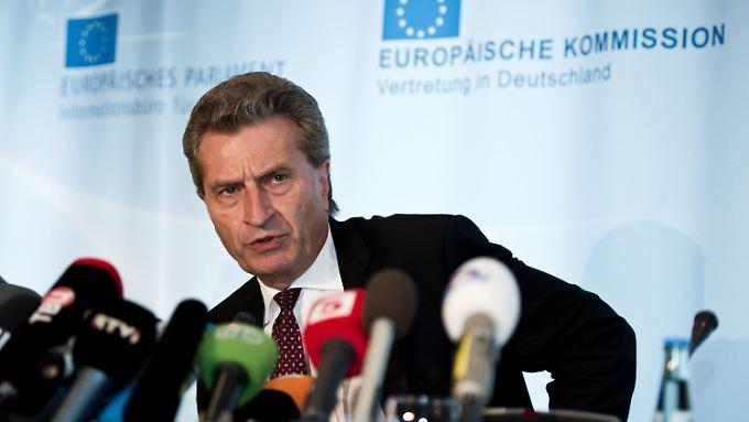 EU-Energiekommissar Günther Oettinger gibt sich zuversichtlich.