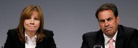 """""""Brutal hart und zutiefst beunruhigend"""" nennt Mary Barra den Bericht, den sie a der Seite von GM-Vize Mark Reuss der Belegschaft vorstellte."""