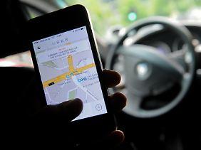 Und so sieht sie aus: Die Uber-App lockt Investoren an und lehrt Taxi-Fahrern das Fürchten.