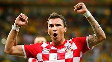 Mario Mandzukic traf gleich doppelt für die Kroaten.