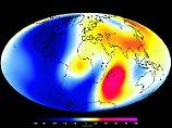 Das Magnetfeld der Erde im Juni 2014 auf einer  Illustration der European Space Agency (ESA).