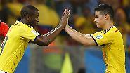 Uruguay scheitert ohne Suárez: Jungstar Rodríguez lässt Kolumbien jubeln