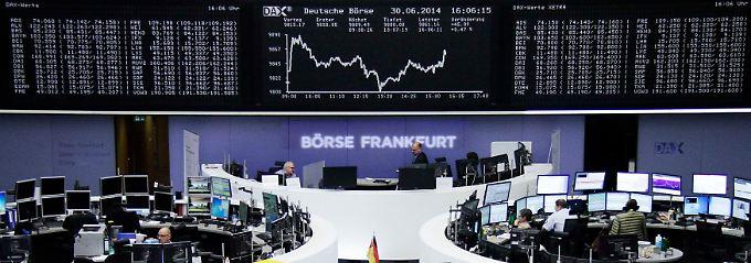 Blick in den Frankfurter Handelssaal: Seit Jahresbeginn liegt der Dax knapp 3 Prozent im Plus.