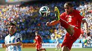 Argentinien siegt gegen die Schweiz: Belgien - teuflisch offensiv ins Viertelfinale