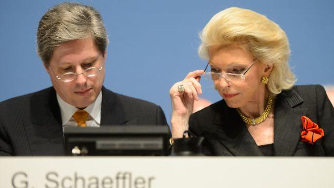 Georg F. W. Schaeffler und Maria-Elisabeth Schaeffler entschieden sich recht kurzfristig um - und zahlen nun.