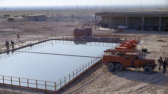 Syrisches Ölfeld nahe der irakischen Grenze.