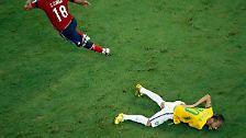 Ohne Neymar gegen Deutschland: Brasilien mit viel Kraft und wenig Glanz