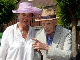Scheel mit seiner streitbaren Ehefrau Barbara.