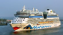 """Die """"AIDAdiva"""" des Rostocker Kreuzfahrtunternehmens AIDA Cruises wurde im April 2007 in Dienst gestellt."""
