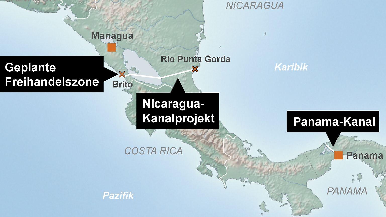 Konkurrenz Fur Panama Kanal Route Fur Nicaragua Kanal Steht N Tv De