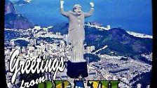 Das Wahrzeichen Rios wie auch ganz Brasiliens stellte sich als besonders beliebtes Photoshop-Motiv heraus. Wahlweise gab es eine Merkel-Statue, ...