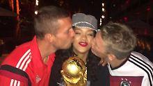 Turtelei, Küsschen und Selfies: Rihanna feiert mit den neuen Weltmeistern