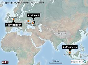 Von Amsterdam nach Kuala Lumpur: Flug MH17 endete über der Ukraine.