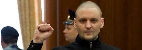 Sergej Udalzow gab sich auch im Gerichtssaal kämpferisch.