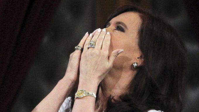 Argentiniens Präsidentin Cristina Fernández Kirchner: Ihr Name wäre mit der zweiten Staatspleite binnen 13 Jahre unweigerlich verbunden.