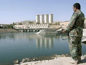 Heikle Situation: Der Mossul-Staudamm könnte zur Bedrohung werden.