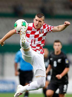 Ante Rebic kam bei der WM dreimal für Kroatien zum Einsatz. Künftig stürmt er für RB Leipzig.