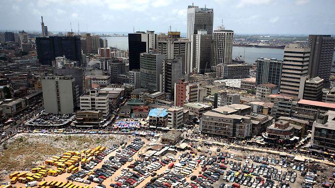 US-Firmen wollen auch in den Bankensektor Afrikas investieren  dieser  ist etwa in der nigerianischen Hauptstadt Lagos auf dem Vormarsch.
