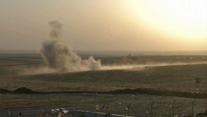 US-Attacke auf IS-Stellungen in der Nähe von Erbil.