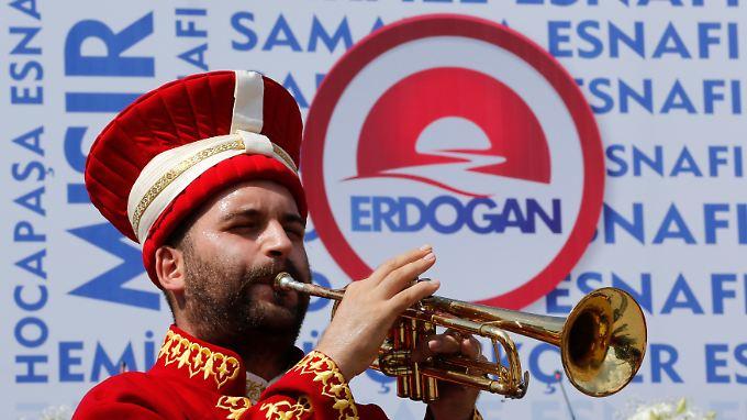 Wahlkampf für Recep Erdogan.