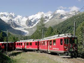 """Weltbekannte Panoramastrecken: Die Rhätische Bahn bezeichnet sich selbst als """"größte Alpenbahn der Schweiz"""" (Archivbild)."""