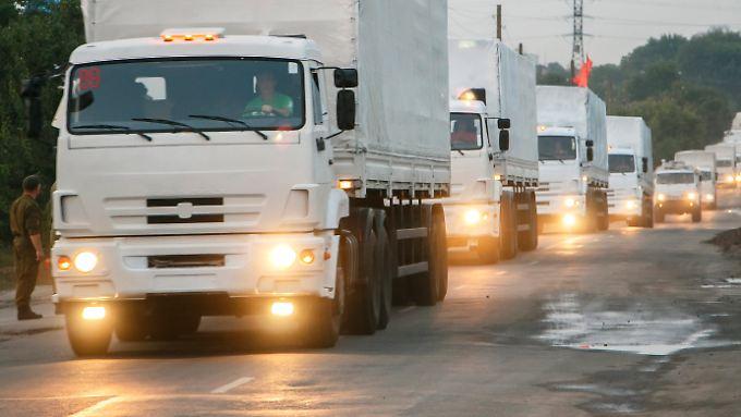 Der Hilfskonvoi - welche Ladung transportieren die Lkw wirklich?
