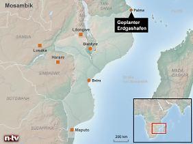 Milliardeninvestitionen im Grenzgebiet zu Tansania: Der US-Konzern Anadarko will im Nordosten Mosambiks ein LNG-Terminal aus dem Boden stampfen.
