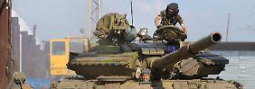 Die prorussischen Separatisten behaupten, von Moskau unterstützt zu werden.