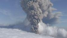 Der Ausbruch des Eyjafjallajökull legte 2010 den Flugverkehr über Europa lahm.