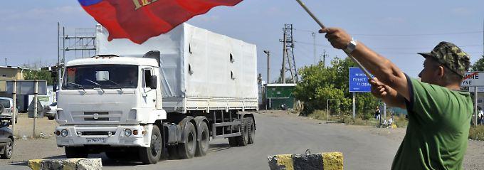 200 Lastwagen, 2000 Tonnen Güter: Russischer Hilfskonvoi erreicht die Ukraine