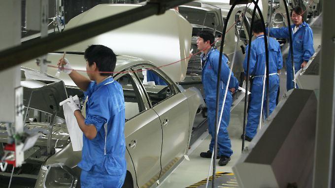 Karosserielackierung im VW-Werk in Nanjing.