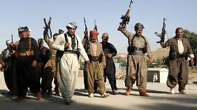 Kämpfen gegen den islamistischen Terror: die kurdische Peschmerga-Miliz.