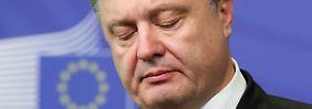 """""""Völliger Krieg"""": Poroschenko fordert militärische Unterstützung"""