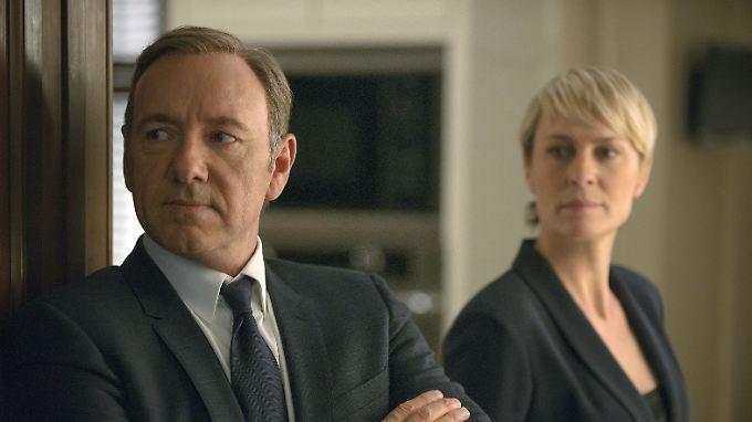 """Kevin Spacey und Robin Wright gehören mit ihrer Serie """"House of Cards"""" zu den Aushängeschildern von Netflix."""