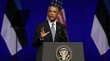 """""""Estland wird nie allein dastehen"""": Obama sichert Baltikum ewigen Beistand zu"""