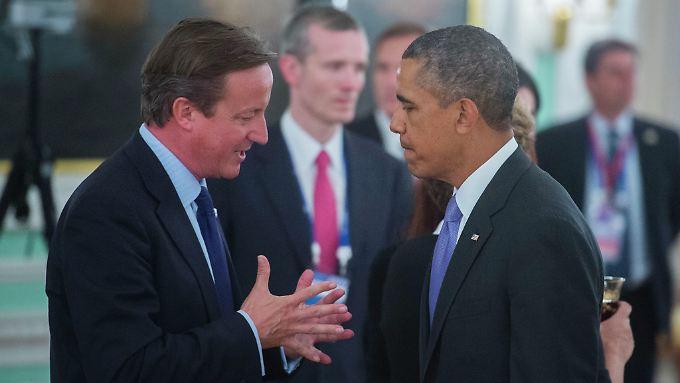 David Cameron und Barack Obama wollen die Regelverletzungen Russlands nicht dulden.