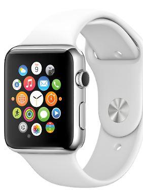 Auf dem Homescreen der Apple Watch sind App-Symbole rund und können beliebig angeordnet werden.