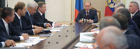 Kabinettsitzung im Kreml.