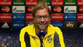 """Launiger Klopp unterhält Reporter: """"Ich liebe Arsène Wenger?"""""""