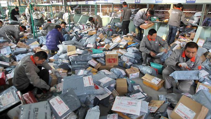 Taobao sorgt für Umsatz - auch in diesem Logistikzentrum im chinesischen Nantong.