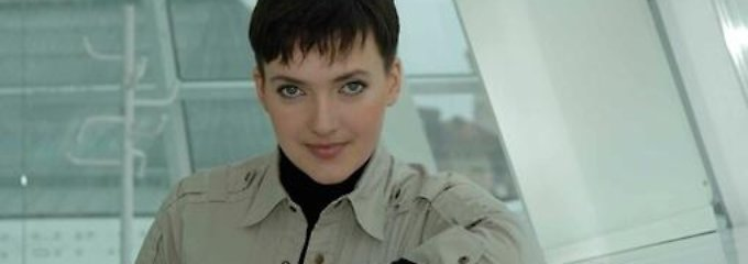 Ukrainische Kämpferin in den Händen Moskaus: Nadja Sawtschenko.