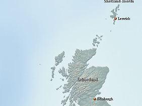 Die Shetlands liegen rund 160 Kilometer nördlich von Schottland.